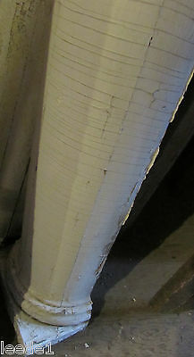 Early 1900 7 Foot + Heavy Wood Tapered Half Column Vintage Architectural Salvage 2