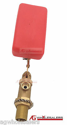 "1/2"" Float Valve Solid Brass - Water Trough Automatic Horse Dog Cattle Bowl Tank 2"