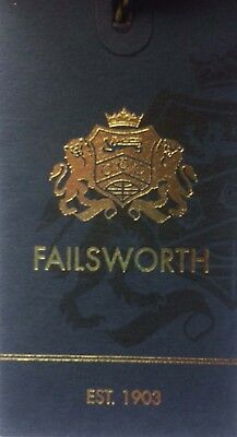 Failsworth English Tweed Flat Cap - Merino Wool Abraham Moon Blue Houndstooth 5