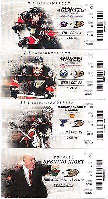 15c152bc067 ... 2014-15 Anaheim Ducks Season Ticket Stub Pick Your Game Dropbox Perry  Getzlaf 2
