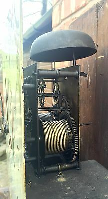 Antique Oak & Mahogany Longcase Grandfather Clock 8 Day 7