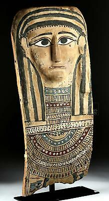 Egyptian Painted Gesso & Wood Mummy Mask Lot 1