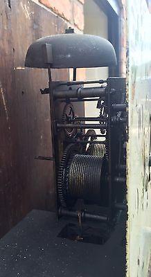 Antique Oak & Mahogany Longcase Grandfather Clock 8 Day 8