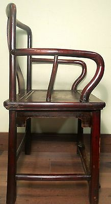 Antique Chinese Ming Arm Chair (5921), Cypress Wood, Circa 1800-1849 11