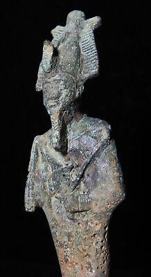Zurqieh -As7923- Ancient Egypt. Large Bronze Statue Of Osiris. 1075 - 600B.c 6