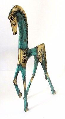 Ancient Greek Bronze Museum Statue Replica Geometric Era Horse Collectable 121 4