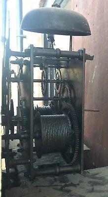 Antique Mahogany Rolling Moon Longcase Grandfather Clock G TOPHAM Congleton 10