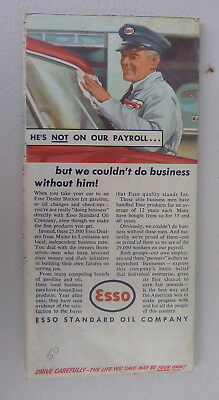 1950 S.  New England road map Esso oil gas Faneuil Hall Massachusetts CT RI 2