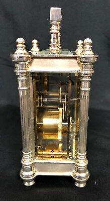 Limited Edition Sterling Silver Vintage Carriage Clock Charles Frodsham London 6