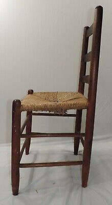Hitchcock Chair Rush Seat With Stenciling 1930-1940S 7