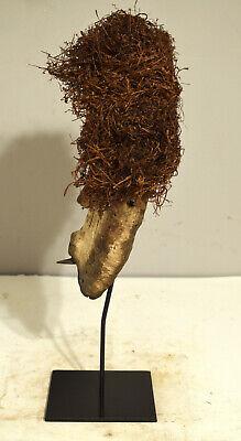 African Mask Lega Bwami Society Congo Prestige Male Female Wood Raffia Lega 2