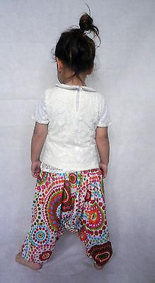 Girls boys harem pants baggy summer hippy boho trousers 3,4,5,6,7 years 3