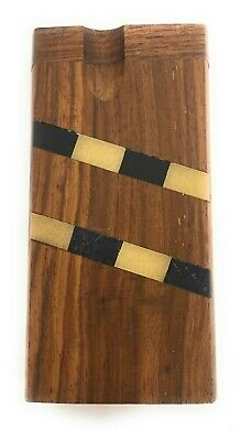 """4"""" Wooden Tobacco Dugout Set with pipe Loaded (3"""" Metal One Hitter) 3"""