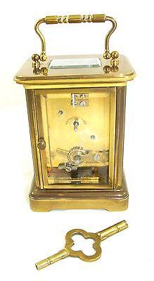 Wonderful Swiss Brass Carriage Clock : MATTHEW NORMAN LONDON SWISS MADE 11