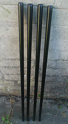 One Black Walking Stick Shaft Quality Beech Wood Shanks Part Accessories Canes 3