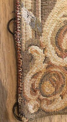 Antique Turn Of The Century Large French Wool Wall Hanging Tapestry 6
