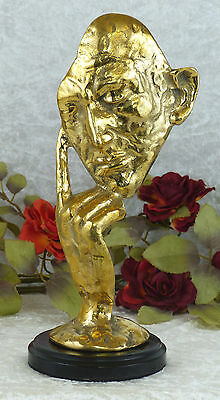 Bronze Maske Büste Denker Abstrakt Bronze Luxus Statue Skulptur Figur 20024B
