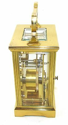 MAPPIN & WEBB Brass Carriage Mantel Clock Timepiece with Key  Working Order (54) 5