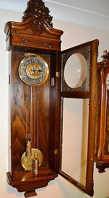 Antique Original Gustav Becker Wall Clock Huge 143 Cm Vienna Regulator 3
