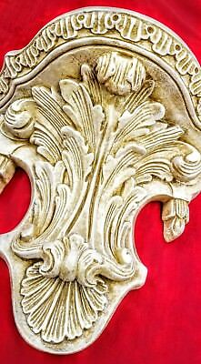 Antique Finish Shelf Acanthus leaf Tassel Wall Corbel Sconce Bracket Vintage 6