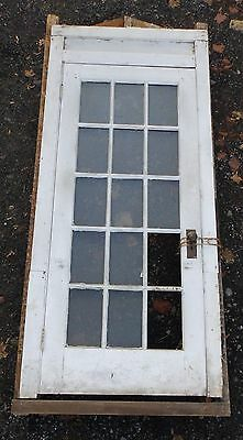 Antique Entry Way French Door With Surround Gingerbread Pediment Old 3903-14 7
