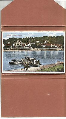 Leporello Sächsisch-Böhmische Schweiz Konstanstalt Herman Poy (11 Ansichskarten)