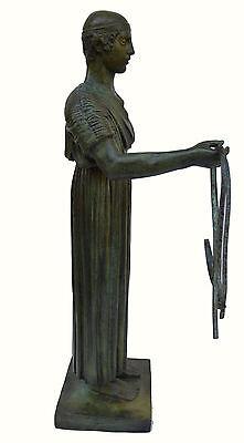 Charioteer Bronze statue of Delphi Ancient Greek reproduction sculpture artifact 4