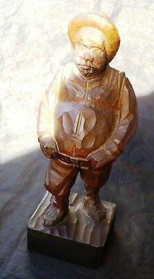 """Iconica e bella statuina in legno Vintage originale """"Sancho Panza"""" 5"""