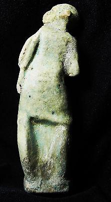 Zurqieh- Roman Egypt , Rare Faience Figure Of Harpocrates, 200 A.d 4