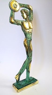 Ancient Greek Bronze Museum Statue Replica of Discus Thrower of Myron Olympics 5