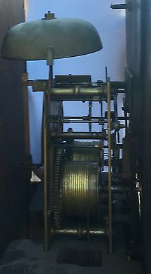 Oak And Mahogany Cross Banded Longcase /grandfather Clock With Rolling Moon 10