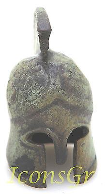 Ancient Greek Bronze Museum Replica Vintage Spartan Warrior Battle Helmet 300 2