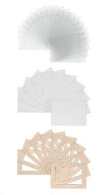 Pack of 50 - Bespoke Mounts / Picture Mounts / Frame Mounts + Backs + Clear Bags 2