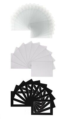 Picture and Photo  Mount Kit + Backs + Clear Bags - Frame Size White,Ivory,Black 2