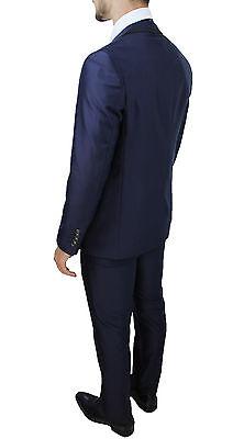 30dee387e8 ABITO UOMO DIAMOND Raso Blu Sartoriale Completo Vestito Class Elegante  Cerimonia