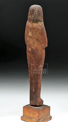 Egyptian New Kingdom Wood Mummiform Ushabti Lot 5A