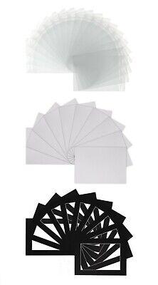 Photo Picture Mounts - Frame Mount - Various Sizes + Backs, Bags - White Colour 3