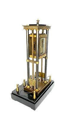 French Style Falling Gravity Driven Bronze Industrial Elevator Industrial Clock 5