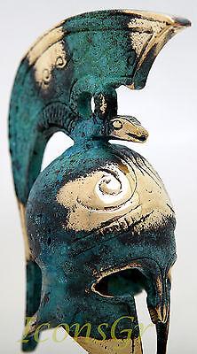 Ancient Greek Bronze Museum Replica Vintage Thespian Officer Battle Helmet Snake 4