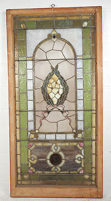 Vintage Stained Glass Window Panel (2939)NJ 3