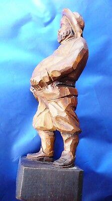 """Iconica e bella statuina in legno Vintage originale """"Sancho Panza"""" 10"""