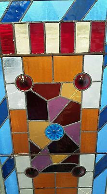 Antique Eastlake Victorian stained glass window. 6