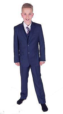 ... Costume Garçon Bleu 5 Pièces de Mariage pour Garçons D Honneur Bal  Soirée 2 À 93abce622b7