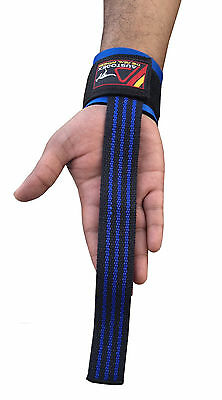 Austodex Weight Lifting Power Bar Wrist Straps wraps Bodybuilding Gym gloves 2