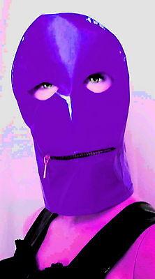 Lackmaske mit Mundreißverschluß,,Vinylmask with Mouthzipper,Wetlook 6