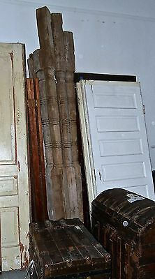 Victorian wood  Column turned Post porch Vintage 9