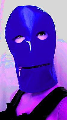 Lackmaske mit Mundreißverschluß,,Vinylmask with Mouthzipper,Wetlook 5