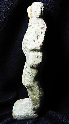 Zurqieh- Roman Egypt , Rare Faience Figure Of Harpocrates, 200 A.d