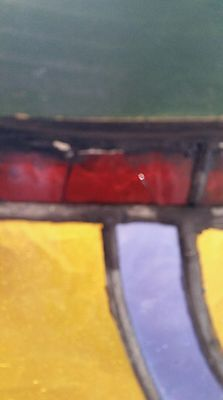 Antique Stained Glass  Window Victorian Era 10
