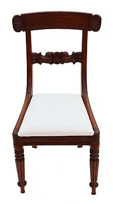 Antique quality set of 4 William IV mahogany bar back dining chairs C1835 4862 4